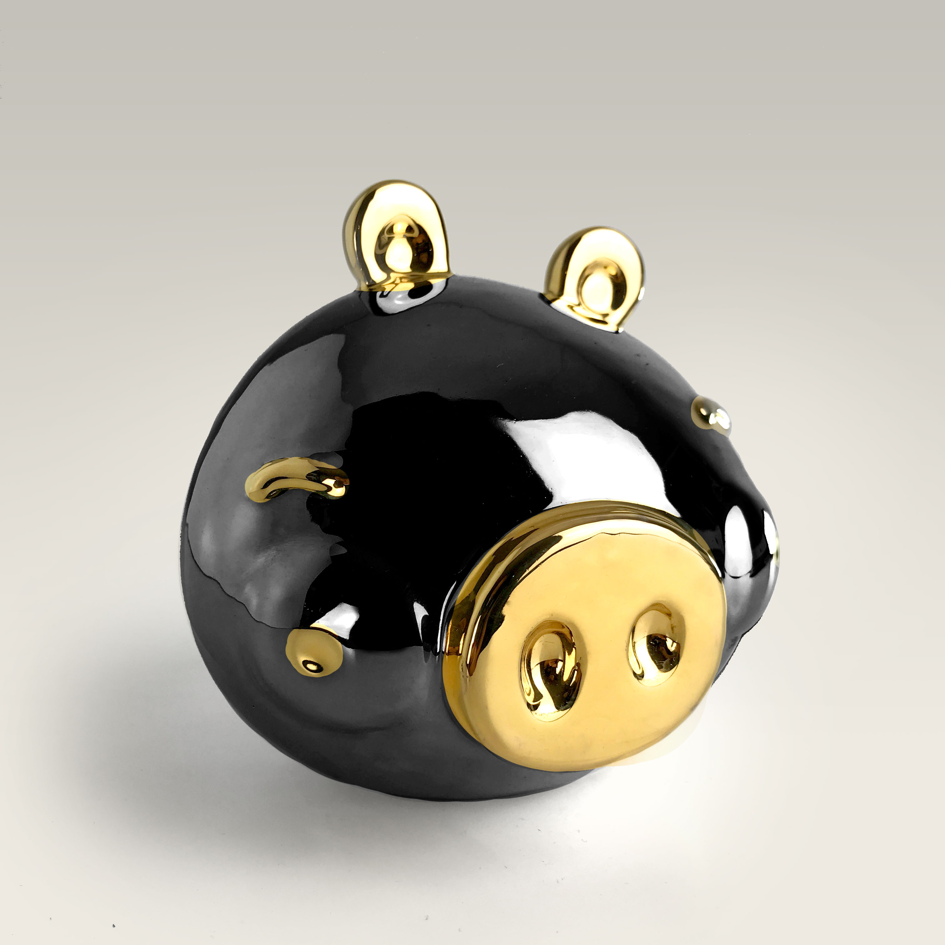 Piggy | black & gold | paolo pastorino